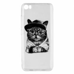Чохол для Xiaomi Mi5/Mi5 Pro Cat in glasses and a cap