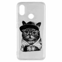 Чохол для Xiaomi Mi8 Cat in glasses and a cap