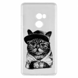 Чохол для Xiaomi Mi Mix 2 Cat in glasses and a cap
