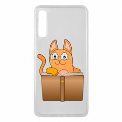 Чехол для Samsung A7 2018 Cat in glasses with a book