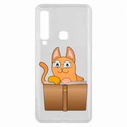 Чехол для Samsung A9 2018 Cat in glasses with a book