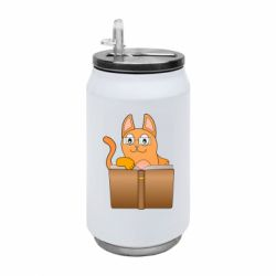 Термобанка 350ml Cat in glasses with a book