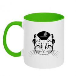 Кружка двоколірна 320ml Cat in the hats