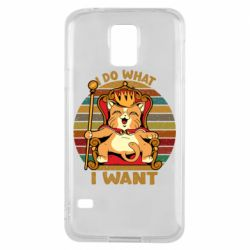 Чехол для Samsung S5 Cat king