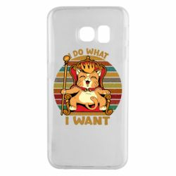 Чехол для Samsung S6 EDGE Cat king