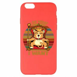 Чехол для iPhone 6 Plus/6S Plus Cat king