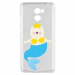 Чехол для Xiaomi Redmi 4 Cat-mermaid