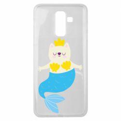 Чехол для Samsung J8 2018 Cat-mermaid
