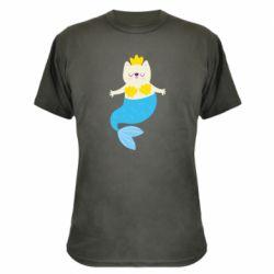 Камуфляжная футболка Cat-mermaid