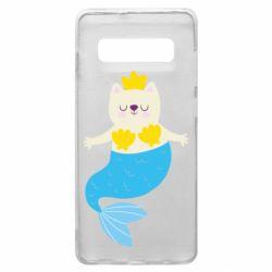 Чохол для Samsung S10+ Cat-mermaid