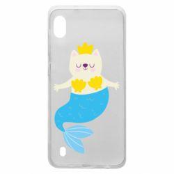 Чохол для Samsung A10 Cat-mermaid