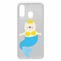 Чохол для Samsung A40 Cat-mermaid