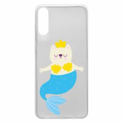 Чохол для Samsung A70 Cat-mermaid