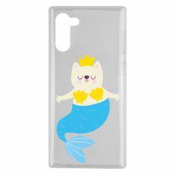 Чехол для Samsung Note 10 Cat-mermaid