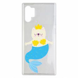 Чохол для Samsung Note 10 Plus Cat-mermaid
