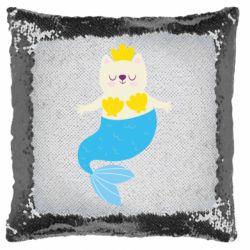Подушка-хамелеон Cat-mermaid