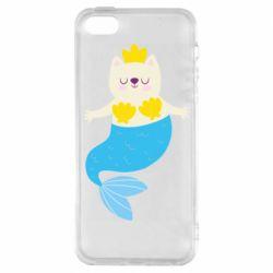 Чохол для iphone 5/5S/SE Cat-mermaid