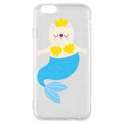 Чехол для iPhone 6/6S Cat-mermaid