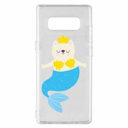 Чехол для Samsung Note 8 Cat-mermaid