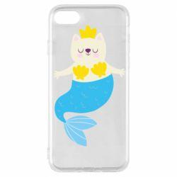Чохол для iPhone 8 Cat-mermaid