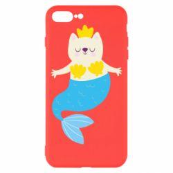 Чехол для iPhone 8 Plus Cat-mermaid
