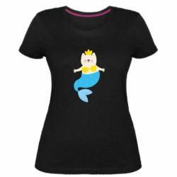 Жіноча стрейчева футболка Cat-mermaid