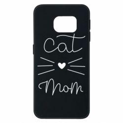 Чохол для Samsung S6 EDGE Cat mom