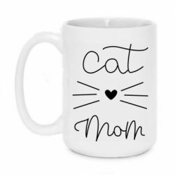 Кружка 420ml Cat mom