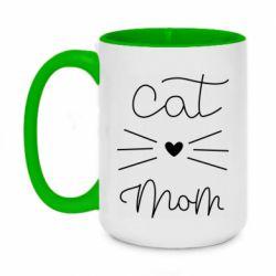 Кружка двоколірна 420ml Cat mom