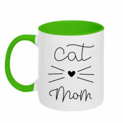 Кружка двоколірна 320ml Cat mom