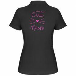 Жіноча футболка поло Cat mom