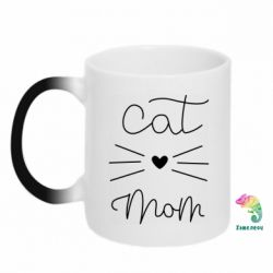 Кружка-хамелеон Cat mom