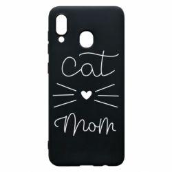 Чохол для Samsung A30 Cat mom