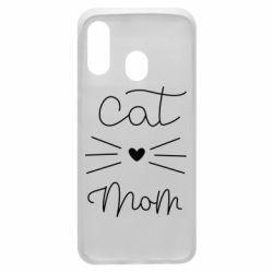 Чохол для Samsung A40 Cat mom