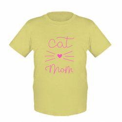 Дитяча футболка Cat mom