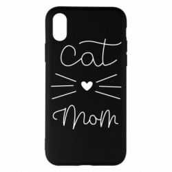 Чохол для iPhone X/Xs Cat mom