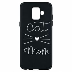 Чохол для Samsung A6 2018 Cat mom