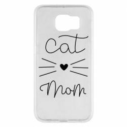 Чохол для Samsung S6 Cat mom