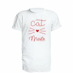 Подовжена футболка Cat mom