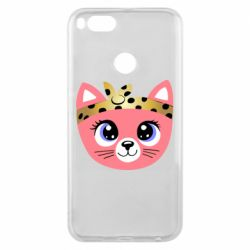 Чехол для Xiaomi Mi A1 Cat pink