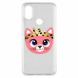 Чехол для Xiaomi Mi A2 Cat pink
