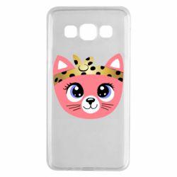 Чехол для Samsung A3 2015 Cat pink