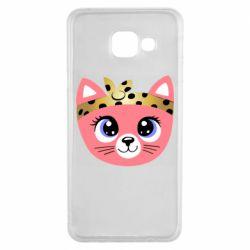 Чехол для Samsung A3 2016 Cat pink