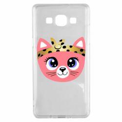 Чехол для Samsung A5 2015 Cat pink