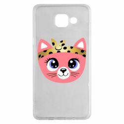 Чехол для Samsung A5 2016 Cat pink
