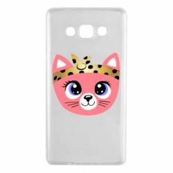 Чехол для Samsung A7 2015 Cat pink