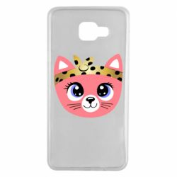 Чехол для Samsung A7 2016 Cat pink