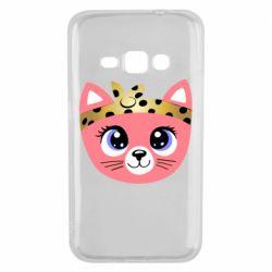 Чехол для Samsung J1 2016 Cat pink