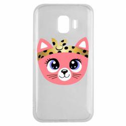 Чехол для Samsung J2 2018 Cat pink
