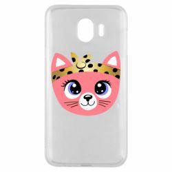 Чехол для Samsung J4 Cat pink
